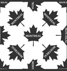canadian maple leaf with city name montreal icon vector image
