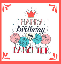 Color birthday card for daughter vector