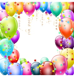 colorful balloons frame vector image vector image