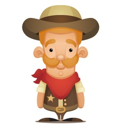 Cute Cowboy vector image