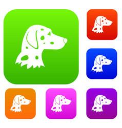 Dalmatians dog set collection vector