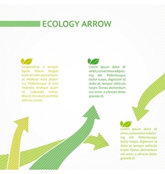 Eco infographic design vector image