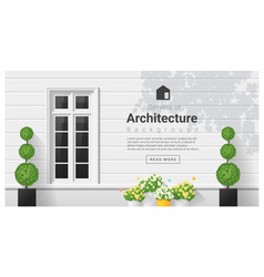 elements of architecture window background 18 vector image vector image