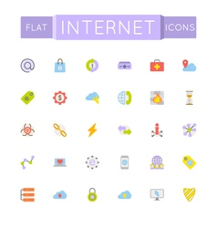 Flat internet icons vector