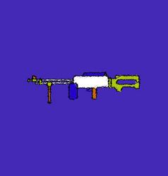 Flat shading style icon military heavy machine gun vector