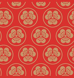 Gold orange seamless pattern japanise vector