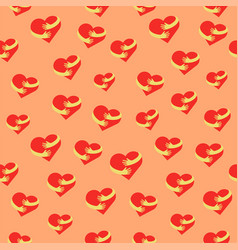 Heart hug seamless pattern flat hearts and hands vector