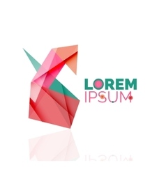 Logo abstract geometric business icon vector