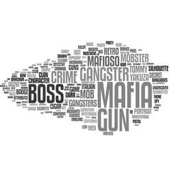 Mafia word cloud concept vector
