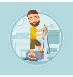Man making exercises in the gym vector