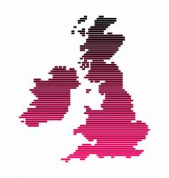 map of the british isles vector image vector image