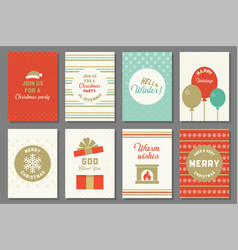 merry christmas typography and elements vector image vector image