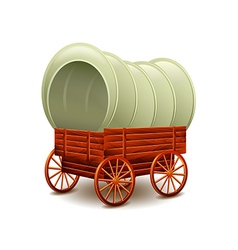 Old wagon isolated on white vector