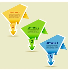 Options Paper Origami Arrow vector image vector image