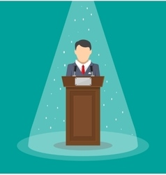 orator speaking from tribune vector image