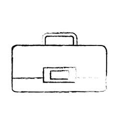 Portfolio suitcase travel business sketch vector