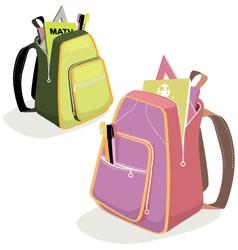 School backpacks vector