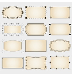 set of simple retro borders from lines for banners vector image vector image