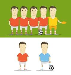 Soccer team clip-art vector image vector image