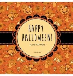 Stylish halloween card in vector