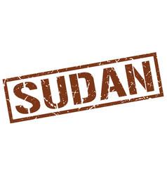 Sudan brown square stamp vector