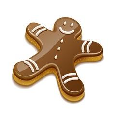 Sweet chocolate biscuit human vector image vector image