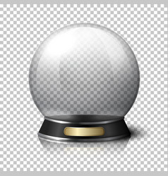 Transparent realistic crystal ball for vector