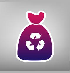 trash bag icon purple gradient icon on vector image vector image