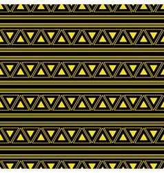 Triangle Aztec Yellow Neon Background vector image