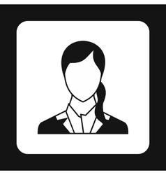 Woman with ponytail avatar icon simple style vector image vector image