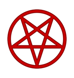 Pentagram symbol icon on white vector image
