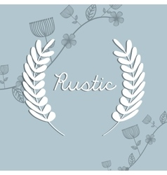 Rustic decorative style vector