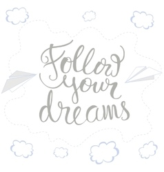 Card with hand drawn lettering vector image