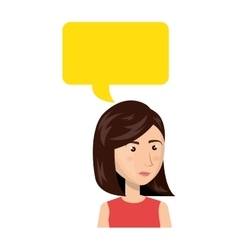 businesswoman character avatar with speech bubble vector image
