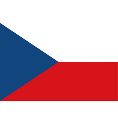 flag of czech republic and former czechoslovakia vector image
