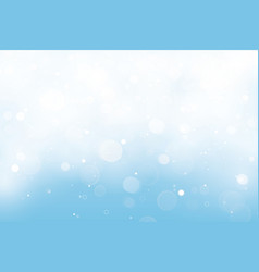 Premium blue background with bokeh lights vector