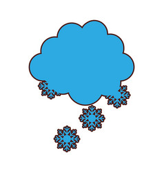 cloud with snowflakes icon vector image