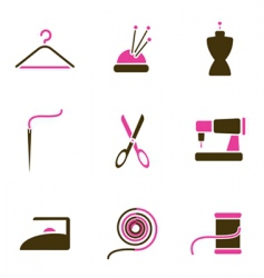 tailoring object icon vector image