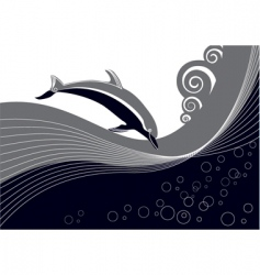 Dolphin background vector