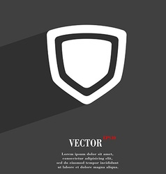 Shield icon symbol flat modern web design with vector