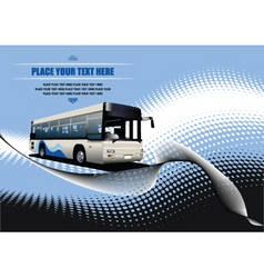 Bus background vector