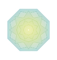 Mandala color lineart geometric ornamental vector