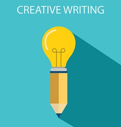 Concept of creative writing vector