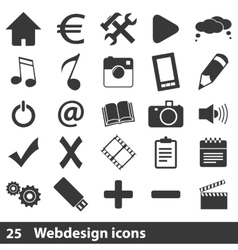 25 webdesign icons set vector