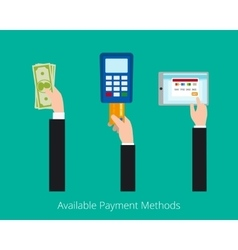 Payment options concept vector