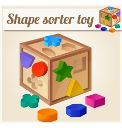 Shape sorter toy cartoon vector
