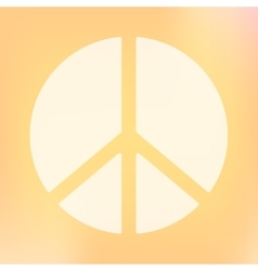 Template of square peace symbol banner vector