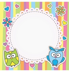 Frame with owls vector