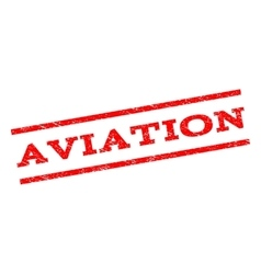 Aviation Watermark Stamp vector image vector image