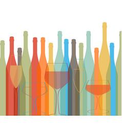 Background bottle alcoholic vector